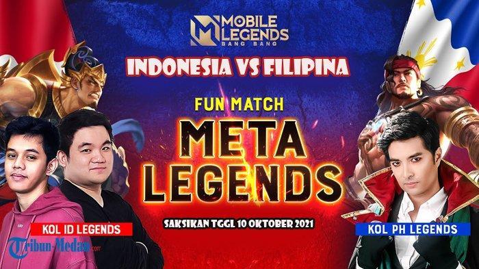 Prediksi dan Link Live Streaming Fun Match Tim MLBB Indonesia VS MLBB Filipina, Main 10 Oktober 2021
