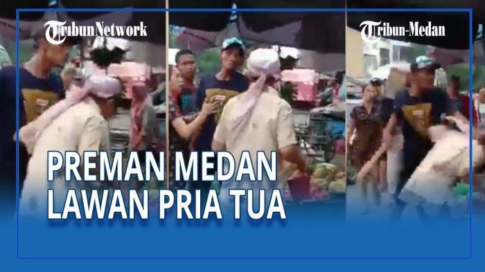 VIRAL Video Aksi Tak Patut 'Bang Jago' Medan Tantang Pria Tua Berkelahi di Tembung, Diburu Polisi