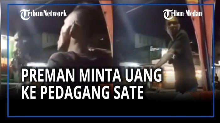 VIRAL di Medsos Pemalakan Tukang Sate, Pelaku Kini Diamankan Personel Polsek Sunggal