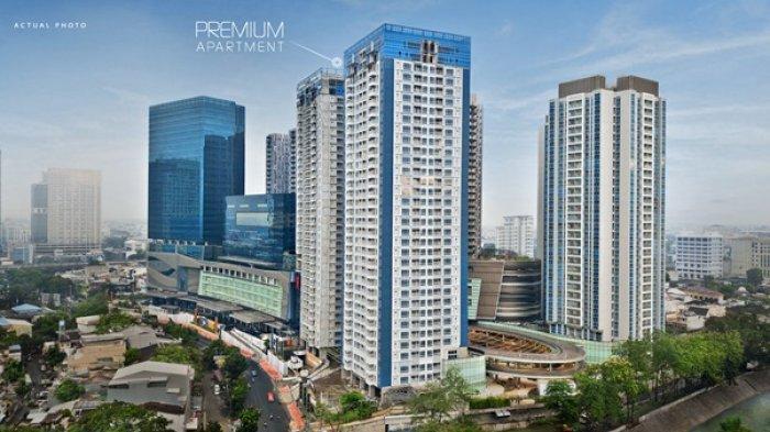 Premium Apartment di sisi jalan Guru Patimpus tampak dari jalan Gatot Subroto.
