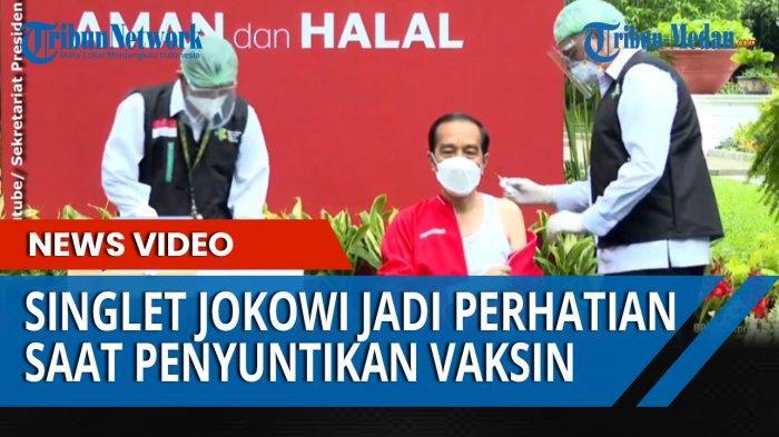 Sebelum melantik Kapolri Jenderal Listyo Sigit Prabowo, Presiden Jokowi terlebih dahulu mengikuti penyuntikan Vaksin Covid-19 tahap kedua di Istana Negara, Rabu (27/1/2021)