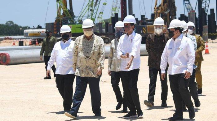 Presiden Jokowi Bersama Menko Airlangga Groundbreaking Smelter Freeport di Gresik