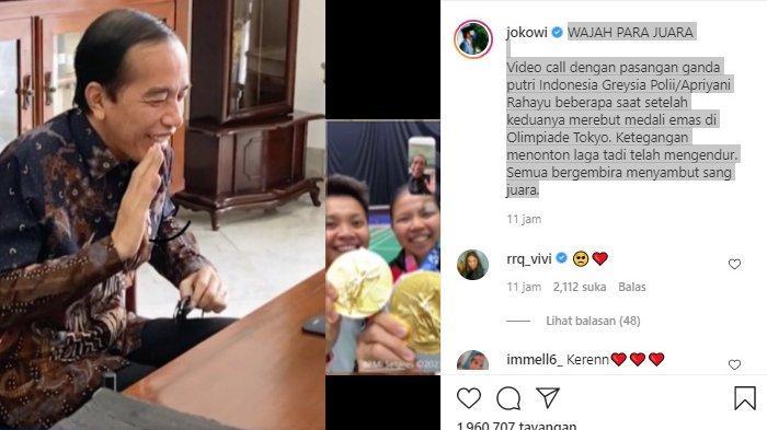 Wajah Para Juara saat Video Call dengan Jokowi, Inilah Sejumlah Hadiah untuk Greysia/Apriyani