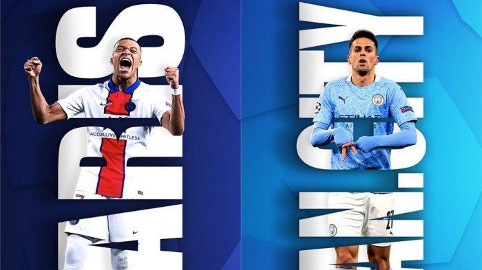 Duel PSG vs Man City berlangsung di Stadion Parc des Princes, Paris, Prancis. Laga ini disiarkan langsung SCTV pukul 02.00 WIB.