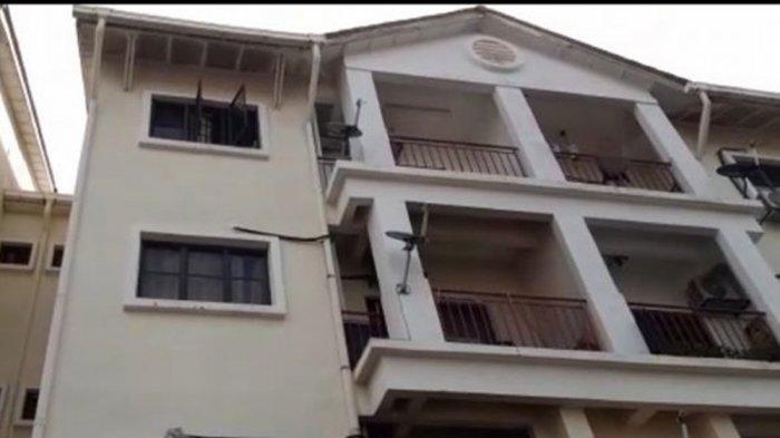 Lokasi kejadian pria 42 tahun lempar cucunya dari lantai 4
