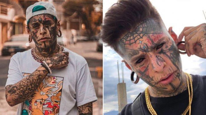 Pria ini terobsesi memodifikasi tubuhnya dan menato seluruh badannya.
