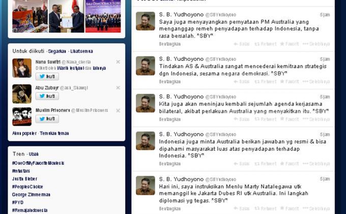 Presiden SBY Protes Beraninya Cuma Melalui Twitter