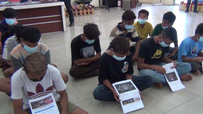 Puluhan Remaja Provokator Tawuran Daerah Belawan Diciduk, Kerap Pamer Senjata Tajam di Medsos