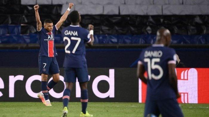 Kylian Mbappe dan para pemain Paris Saint-Germain merujuk kelolosan ke semifinal Liga Champions setelah pertandingan leg kedua perempat final kontra FC Bayern Muenchen pada Rabu (14/4/2021) dini hari WIB.