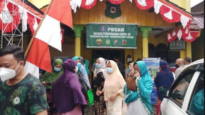 Nampak Kali Kepling Pilih Kasih, Pembagian Bansos PPKM di Sari Rejo Medan Dituding Tak Merata