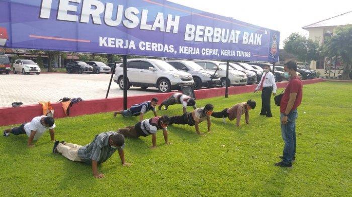 Polisi Tangkap 7 Preman Pemalak Sopir di Deliserdang, Hukuman Push Up dan Bersihkan Kantor Polresta