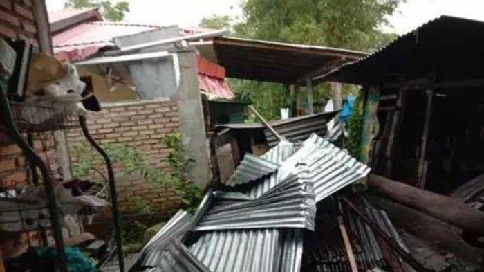 Terjadi Dalam Waktu Singkat, Puting Beliung Rusak Puluhan Rumah di Tapanuli Utara