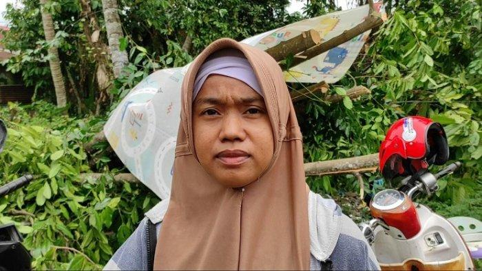 Puting Beliung di Patumbak, Juliana Terguncang Atap Rumahnya Terbang Dibawa Angin