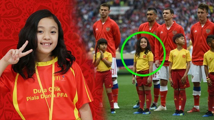 Anak Indonesia Ikut Meriahkan Piala Dunia 2018 Rusia, 2 Orang Terpilih sebagai Player Escort