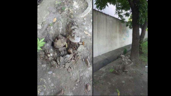 Rambu Bus Trans Metro Deli di Jalan Kolonel Yos Sudarso Km 8,9 Lingkungan I, Kelurahan Mabar, Kecamatan Medan Deli, hilang dicuri, Selasa (8/6/2021).