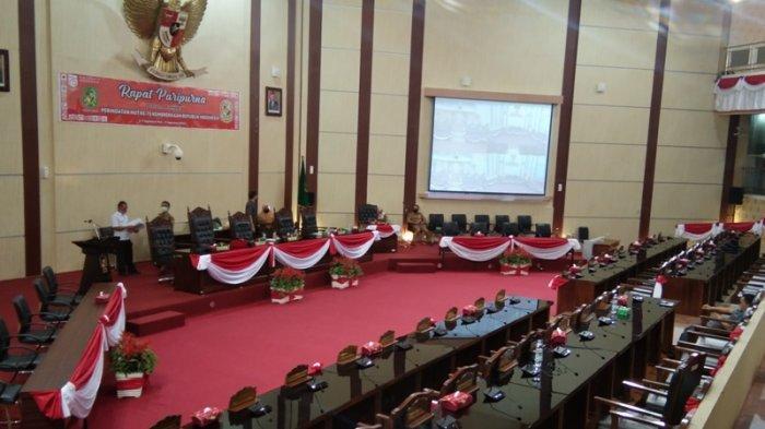 Gedung DPRD Medan Sepi, Paripurna Penutupan Masa Persidangan Ketiga Dihadiri 10 Anggota Dewan