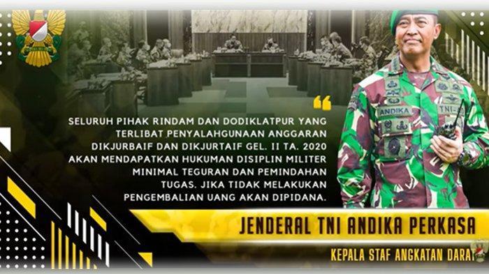 WARNING (PERINGATAN) KERAS KASAD JENDERAL TNI ANDIKA PERSAKASA KEPADA JAJARANNYA DI KESATUAN TNI ANGKATAN DARAT:(Youtube TNI AD)