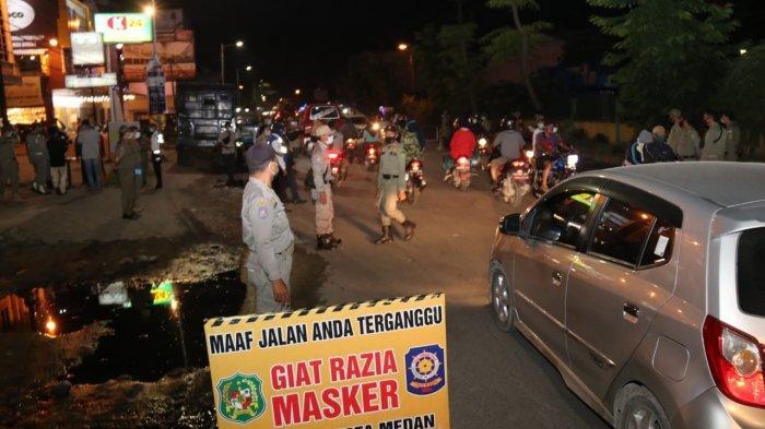 Sebanyak 72 Warga Terjaring Razia Masker di Kecamatan Medan Marelan, Mayoritas Diberi Hukuman Sosial