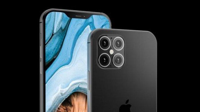 Render iPhone 12 yang menampilkan poni lebih kecil dan empat kamera belakang.