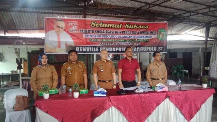 Anggota DPRD Medan Renville Naiputupulu Kecewa Sejumlah Dinas Terlambat dan Tak Hadir di Sosper