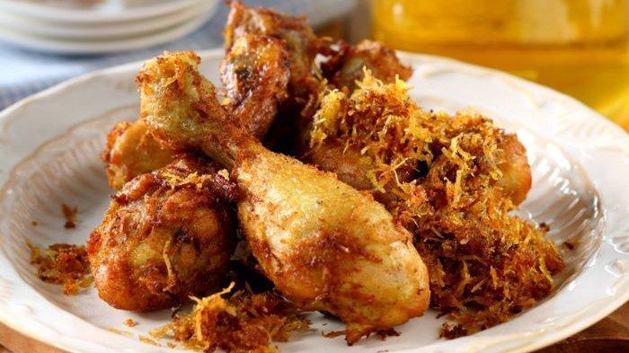 Resep Ayam Goreng Kuning Tabur Serundeng dan Cara Membuatnya, Menu Makan Malam dengan Rasa yang enak