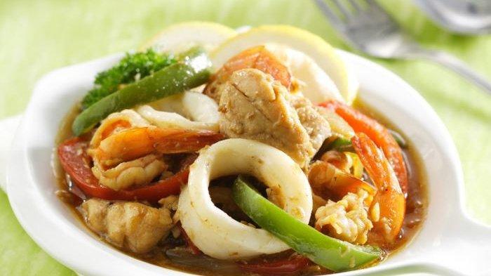 Resep Seafood Tumis Bombay dan Cara Membuatnya, Hidangan Aneka Seafood dengan Rasa yang Mantap