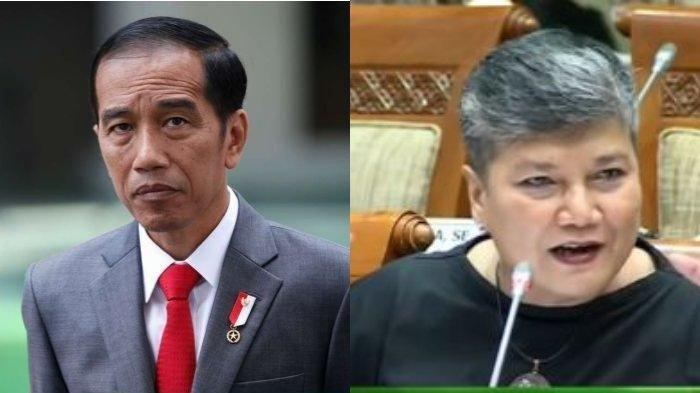 Kolase foto Presiden RI Joko Widodo dan Ribka Tjiptaning Proletariyati
