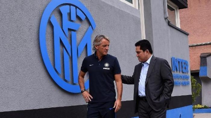 Roberto Mancini dan Erick Thohir