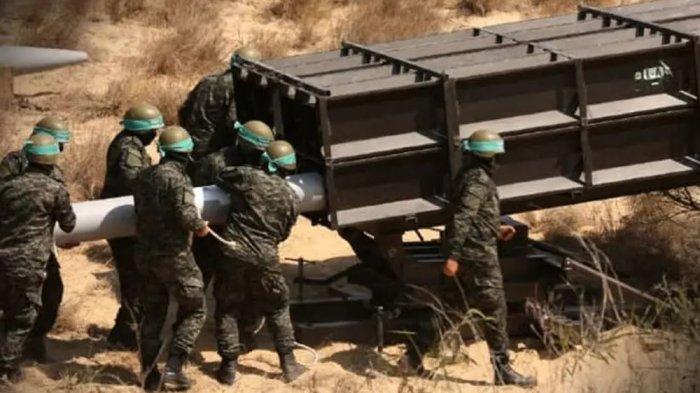 Roket A-120 milik Hamas yang ditembakkan ke Yerusalem