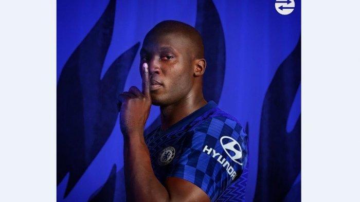 Romelu Lukaku berseragam Chelsea/Twitter
