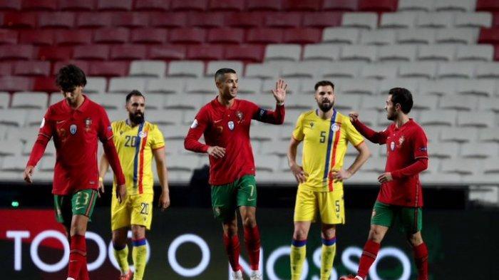 Portugal menang besar atas Andora dalam laga uji coba internasional dini hari tadi, Kamis (12/11/2020)