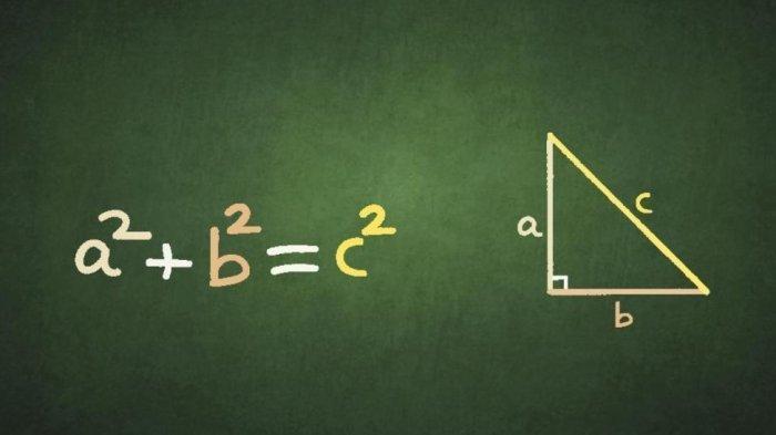 Materi Belajar Matematika SMP: Rumus Phytahgoras Lengkap Contoh Soal Beserta Jawabannya