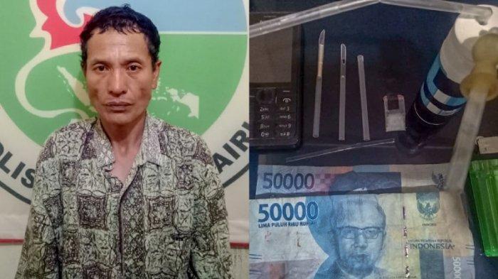 Kepergok Pakai Sabu Tengah Malam, Polisi Tangkap Natar Simbolon di Rumahnya