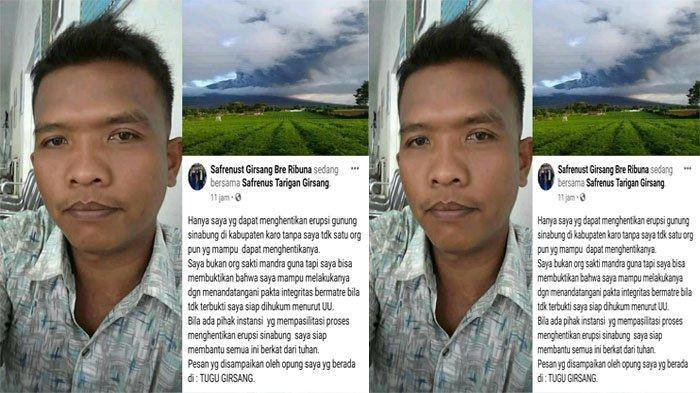 Waduh, Pria Ini Ngaku Bisa Hentikan Erupsi Gunung Sinabung dan Siap Dipenjara, Gimana Ceritanya Ya