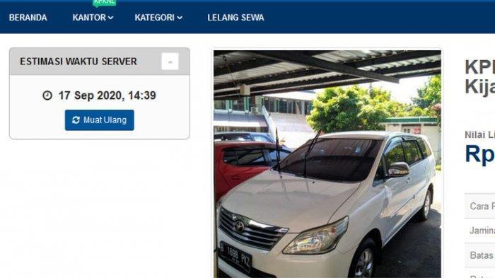 Ditjen Pajak Lelang Mobil Sitaan, Harga Mulai Rp 63 Juta