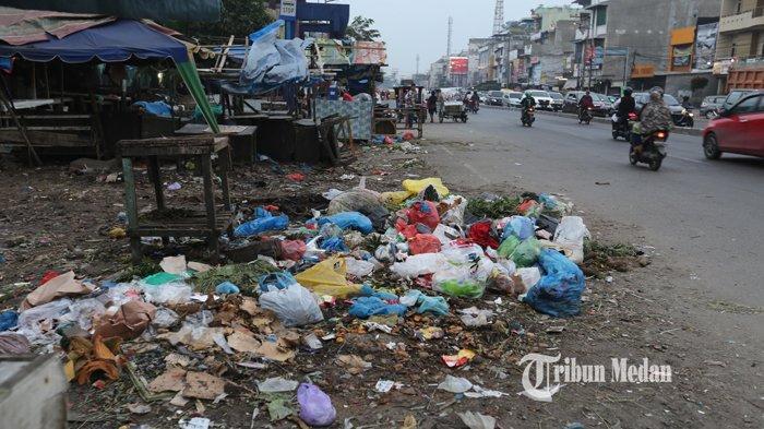 BERITA FOTO Sampah Menumpuk dan Berserakan di Pasar Kampung Lalang Medan - sampah-pasar-kampung-lalang-1.jpg