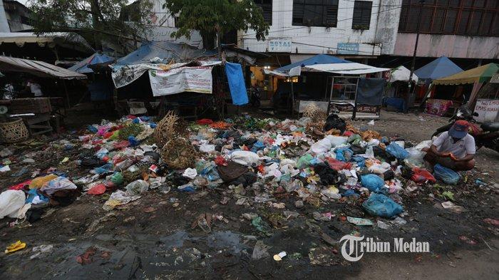 BERITA FOTO Sampah Menumpuk dan Berserakan di Pasar Kampung Lalang Medan - sampah-pasar-kampung-lalang.jpg