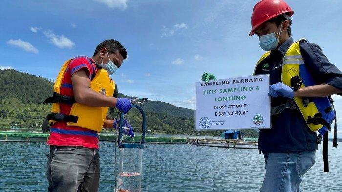 RSI Ambil Sampel Pemantauan Lingkungan secara Berkala di Pabrik Pengolahan dan Budidaya Tilapia