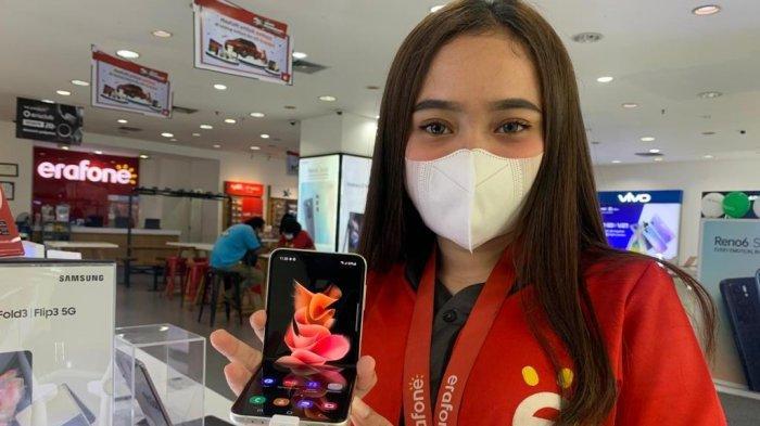 Samsung Galaxy Flip3 5G Meluncur di Medan, Erafone Tawarkan Promo Cashback Hingga Rp 1 Juta