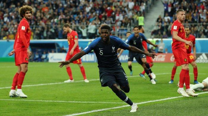 SELAMAT! PRANCIS Menuju Juara Dunia: Gol Samuel Umtiti! Belgia Tersingkir di Semifinal