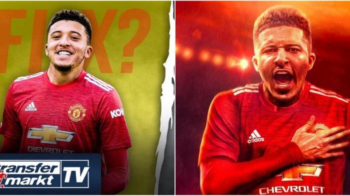 Jadon Sancho resmi ke Manchester United bakal gantikan nomor punggung Edinson Cavani