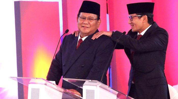 Akhirnya, Prabowo-Sandi Masuk Istana Juga
