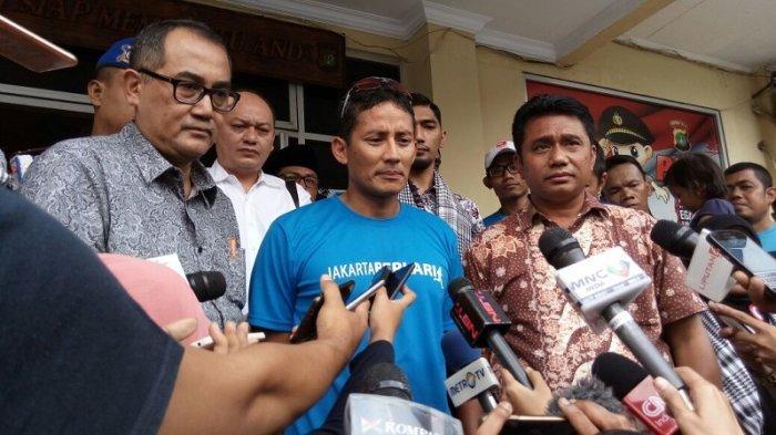 Bersamaan Aksi 313 Sandiaga Diperiksa Polda Sebagai Terlapor Kasus Penggelapan