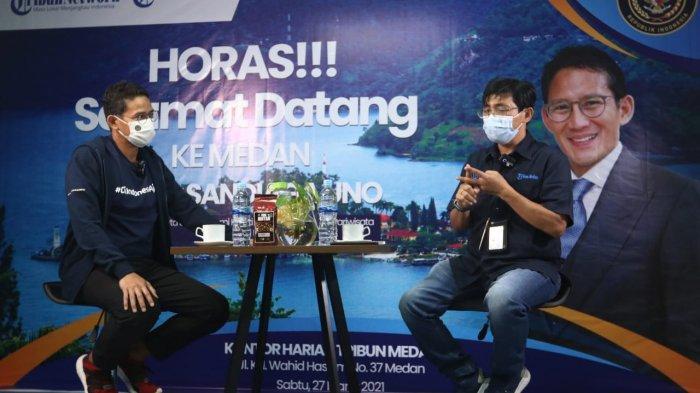 Menteri Sandiaga Uno Ungkap Potensi Alam dan Ekonomi Kreatif menjadikan Danau Toba Wisata Dunia