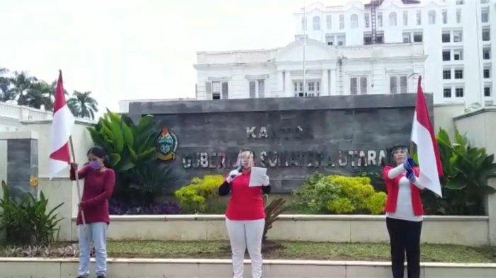 Eks Karyawan Perusahaan Ekspor Kopi Aksi Damai di Kantor Gubernur Sumut