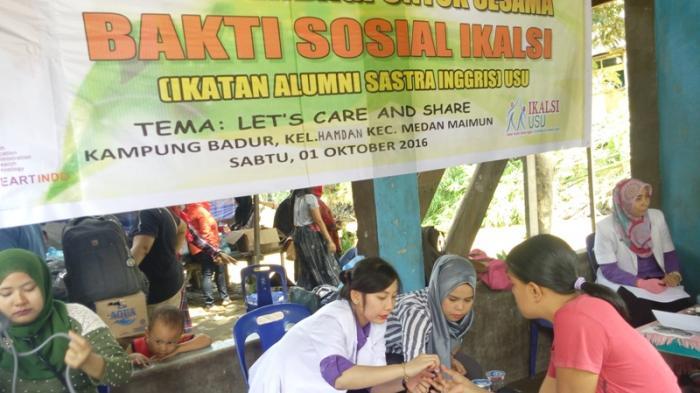 Ikatan Alumni Sastra Inggris USU Gelar Bakti Sosial di Kampung Badur