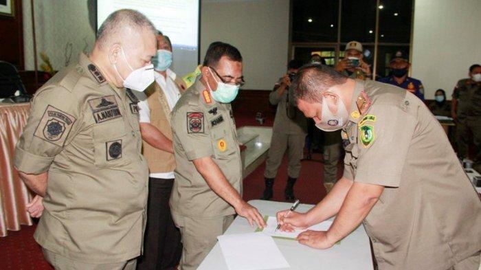 Plt Kasatpol PP Sumut Minta Personel Satpol PP di Daerah Turut Berperan Cegah Penyebaran Covid