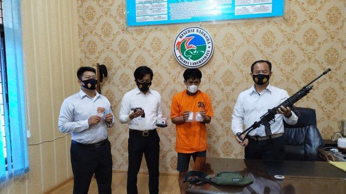 Pria Berinisial IS Diamankan, Polisi Temukan Barang Bukti 2 Pucuk Senjata Rakitan dan Sabu