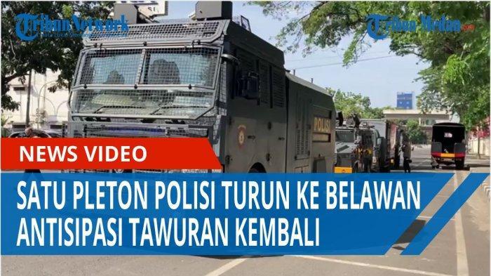 Satu Pleton Polisi Turun ke Belawan Untuk Mengantisipasi Terjadi Tawuran Kembali