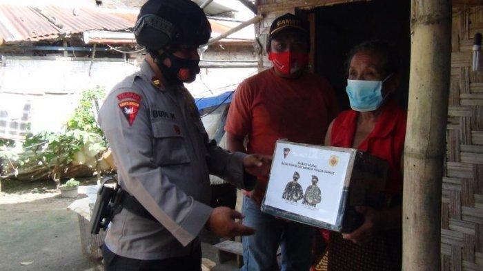 Sat Brimob Polda Sumut Kembali Salurkan Bantuan Kepada Masyarakat